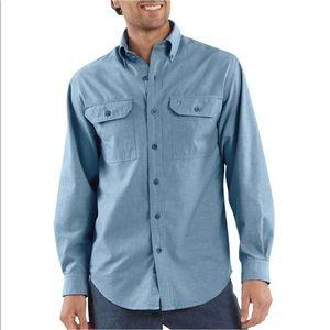 Carhartt Men's Long Sleeve Chambray Button Up XL